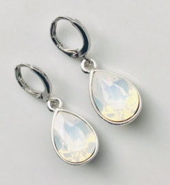 Oorbellen Swarovski Elements White Opal