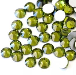 Crystal Rhinestone 2088-SS 34 flatback (7mm) Olive, 10 stuks