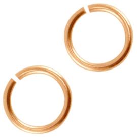 Onderdelen DQ metaal buigring 12mm Rosé goud 10 stuks (nikkelvrij)