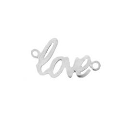 """Bedels DQ metaal tussenstuk """"love"""" Antiek zilver (nikkelvrij)"""