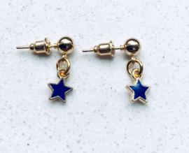 oorstekertje Little Blue Star Gold