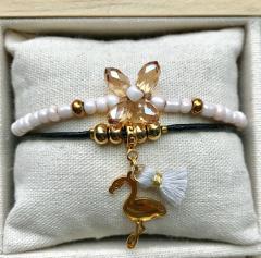 Armbanden set Soft pink/Champagne