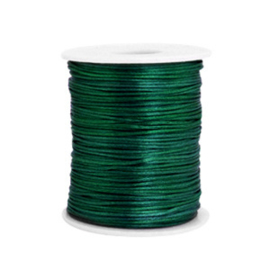 Satijn draad 1.5mm Dark green, 4 meter