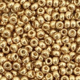 Miyuki rocailles 8/0 Duracoat galvanized champagne gold, 10 gram