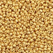 Miyuki rocailles 11/0 Duracoat galvanized gold , 5 gram
