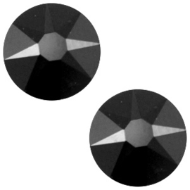 Swarovski Elements 2088-SS 34 flatback, 2 stuks (7mm) Xirius Jet zwart