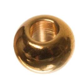 Verguld Goud kraal 6mm, 2 stuks (nikkelvrij)