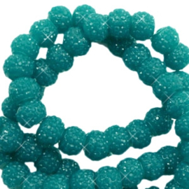 Sparkling beads 6mm Glacier green (10 stuks)