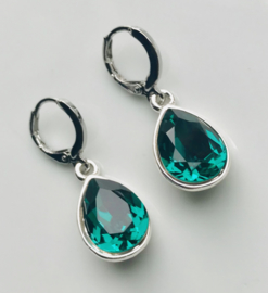 Oorbellen Swarovski Elements Emerald