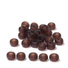Miyuki rocailles 6/0 Dark Brown Matte Transparent, 5 gram
