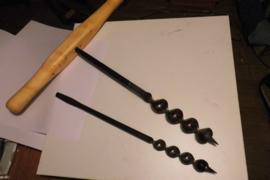 Avegaar of slangenboor, 38 mm met handgreep