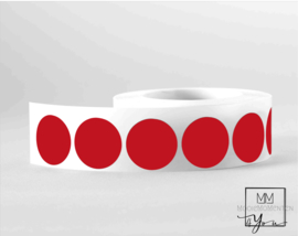 35mm Rond  rood