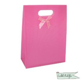 PP kadoverpakking met klittenbandsluiting licht roze