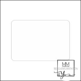 Blanco Stickers Rechtkant Mat Wit