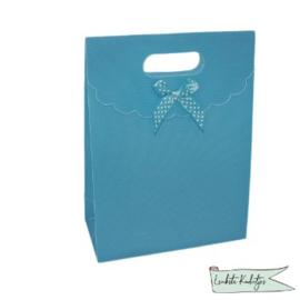 PP kadoverpakking met klittenbandsluiting licht blauw