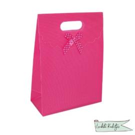 PP kadoverpakking met klittenbandsluiting donker roze