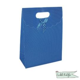 PP kadoverpakking met klittenbandsluiting  blauw