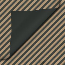 Inpakpapier kraft-zwart-streep