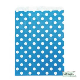 Papieren zakje stippen blauw