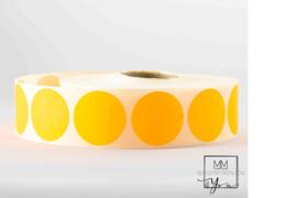 Rond 25 mm fluor oranje