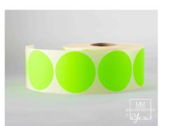 Rond 25 mm fluor groen