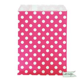 Papieren zakje stippen roze