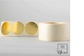 35mm Rond Goud glans