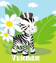 Jungle Baby Zebra met naam