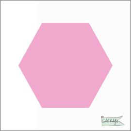 Hexagon Sticker Roze