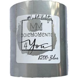 Kleur Metaal Mat Zilver 55mm x 150m