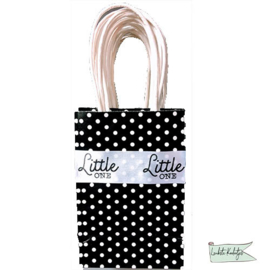 Tasje stip met bedrukt lint `little one`.