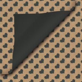 Inpakpapier kraft-zwart-hart