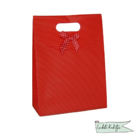 PP kadoverpakking met klittenbandsluiting rood