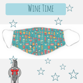 Mondkapje Wine Time