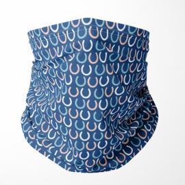 Halsmasker Blue Horse Shoe