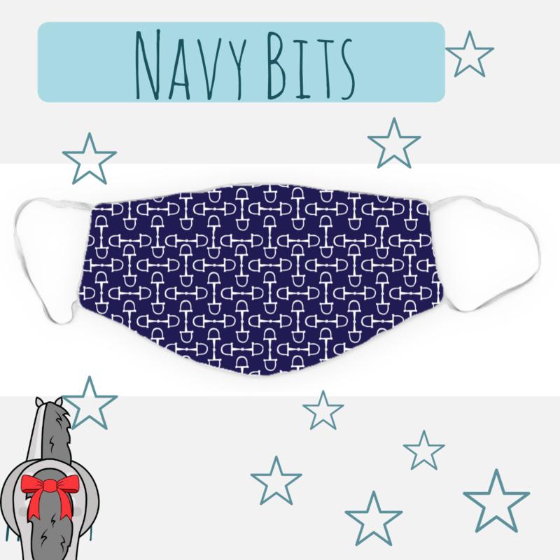 Mondkapje Navy Bits