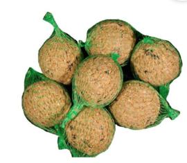 Vetbollen 10 stuks met netje
