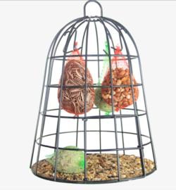 Vogelvoederkooi met vogelvoer