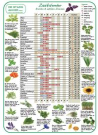 Tuinposter: Zaaikalender Kruiden en eetbare bloemen