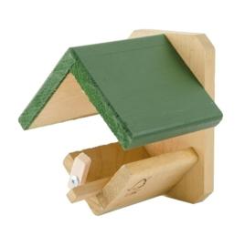 Vogelpindakaaspothouder hout
