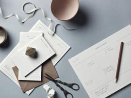 Kartotek - Weekly Desk Planner - A4