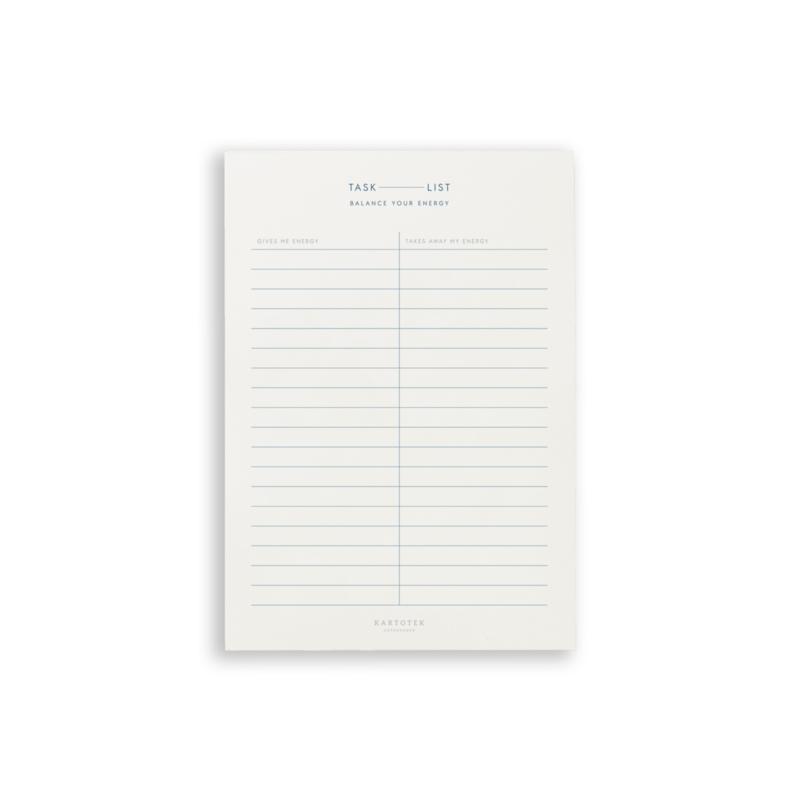 Kartotek - Task List // Energy Balance