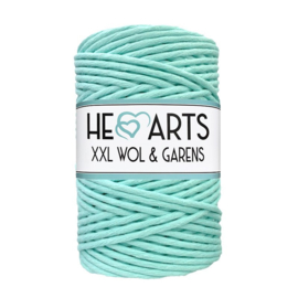 Hearts single twist 4.5 mm mint aqua (100m)