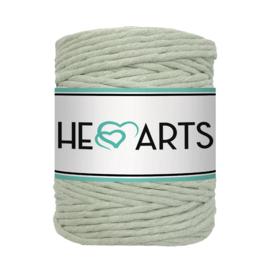 Hearts single twist 5 mm light olive