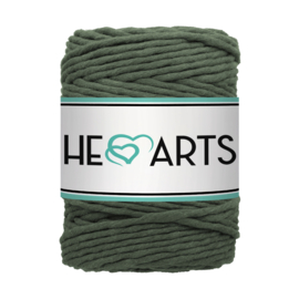 Hearts single twist 5 mm legergroen
