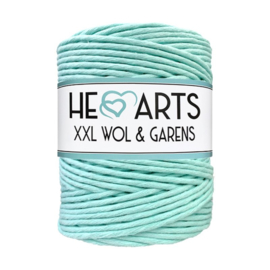 Hearts single twist 4.5 mm mint aqua (200m)