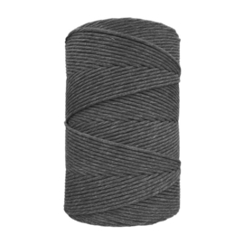 Hearts single twist 4.5 mm darkgrey (500m)