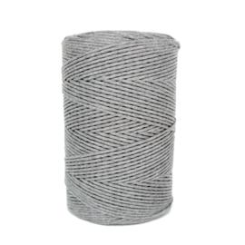 Macramé katoen grijs 4,5 mm