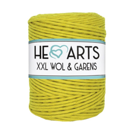 Hearts single twist 4.5 mm greenmustard (200m)