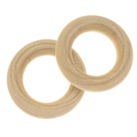 Blanke houten ring 70 mm
